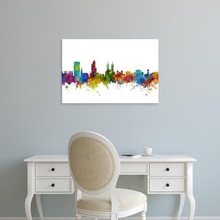 Easy Art Prints Michael Tompsett's 'Winterthur Switzerland Skyline' Premium Canvas Art