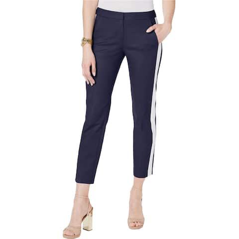 Michael Kors Womens Cigarette Casual Cropped Pants, Blue, 6