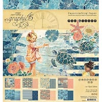 """Sun Kissed; 8 Designs/3 Each - Graphic 45 Double-Sided Paper Pad 8""""X8"""" 24/Pkg"""