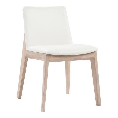 Aurelle Home Derek Modern Solid White Oak Dining Chairs (Set of 2)