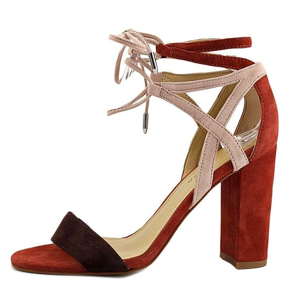 Marc Fisher Womens Fatima Leather Open Toe Casual Ankle Strap Sandals