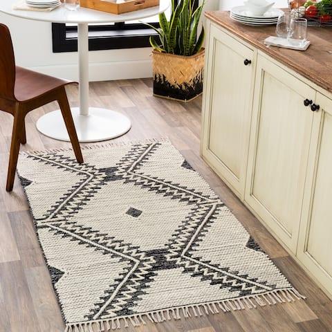 Beto Handmade Geometric Nomad Cotton Area Rug