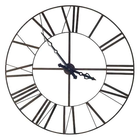 """Mercana Pender 50"""" Round Giant Oversized Industrial Wall Clock - 50.0L x 3.0W x 50.0H"""