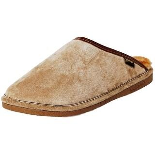 Old Friend Slippers Mens Sheepskin Fleece Scuff Chestnut 421180