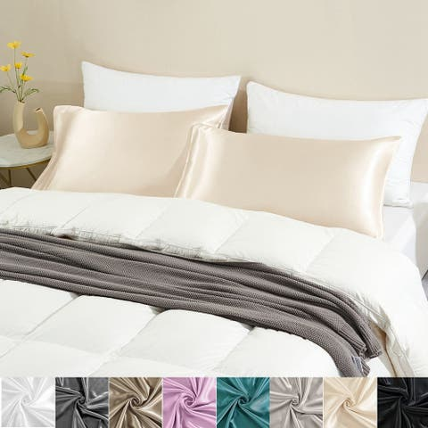 2 Pack Satin Pillowcase Silky Pillow Cases Set