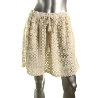 Lucky Brand Womens Lined Eyelet A-Line Skirt