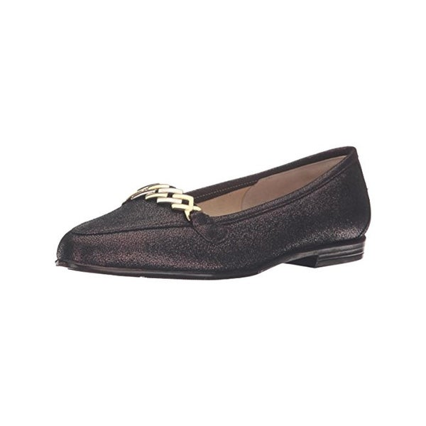 Amalfi by Rangoni Womens Oste Loafers Shimmer Almond Toe - 6.5 medium (b,m)