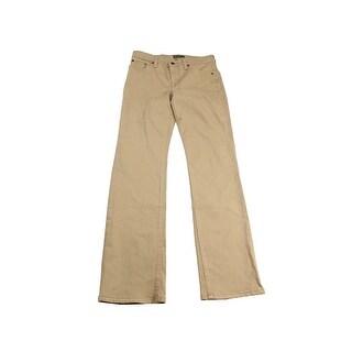 Lauren Ralph Lauren Isle Tan Straight-Leg Jeans
