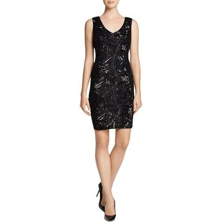 Lucy Paris Womens Cocktail Dress Sequined Sleeveless - M