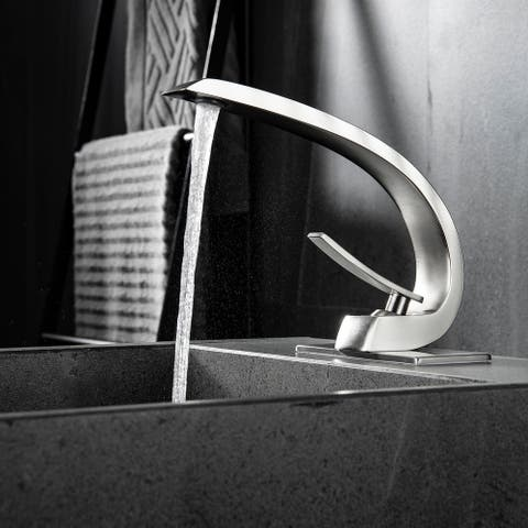 Single Handle Lead-Free Arc Style Sink Faucet - 9.2*6.2*7