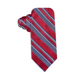 Ryan Seacrest Distincetion Award Stripe Slim Silk Tie Red and Blue