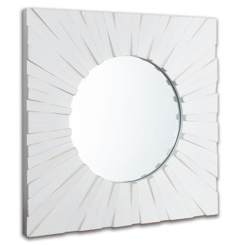 "Tallulah Square Wood Mirror - 30"" x 30"""