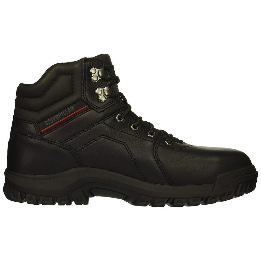 b41251ece35 Caterpillar Men's Diffuse Steel Toe Black Industrial Boot - 11.5