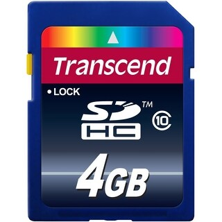 Transcend 4GB Class 10 SDHC Card (TS4GSDHC10) - Yellow