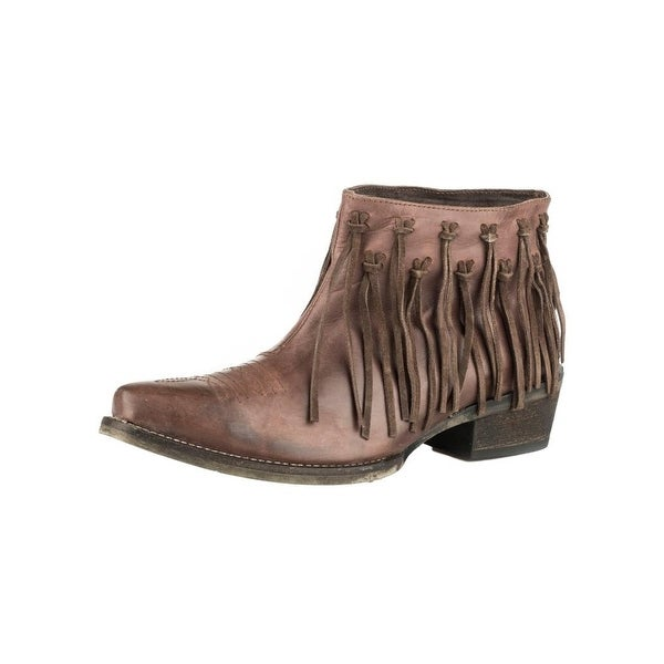 Roper Western Boots Womens On the Fringe Brown