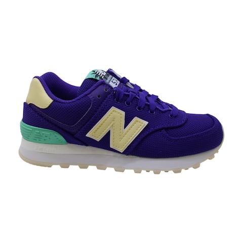 New Balance Women's 574 V1 Sneaker, Deep Violet/Pollen, 5 B US - Deep Violet/Pollen