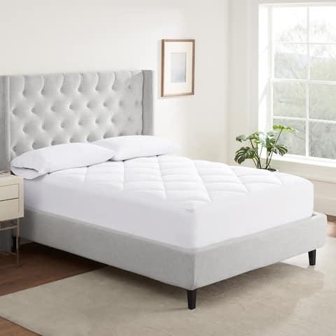 Serta Luxury Firm Comfort Mattress Pad - White