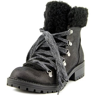 Madden Girl Bunt Round Toe Canvas Ankle Boot