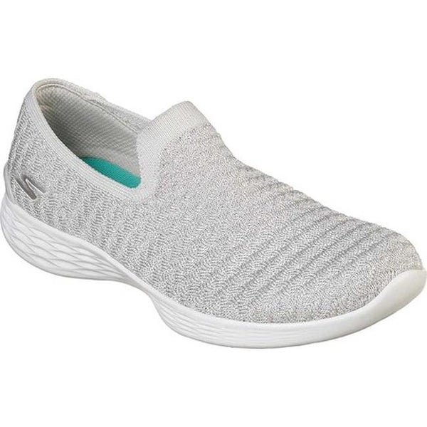 Skechers You Define Perfection Gray Womens Sporty Walking Shoes Size 7m