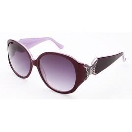 Judith Leiber Butterfly Sunglasses Tortoise White