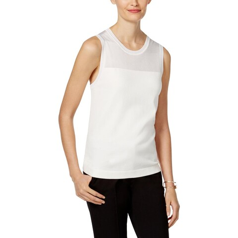 Anne Klein Womens Tank Top Sweater Sleeveless Shell