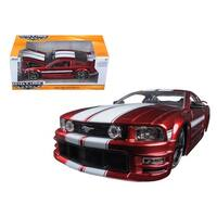 2006 Ford Mustang GT Red With White Stripes 1/24 Diecast Model Car by Jada