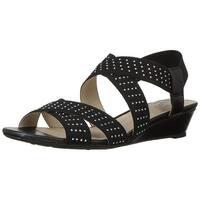 LifeStride Women's Yara Wedge Sandal, - Black