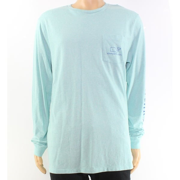 87d0732f8 Shop Vineyard Vines Blue Heather Mens Size Large L Logo Tee Shirt - Free  Shipping On Orders Over $45 - Overstock - 27288384