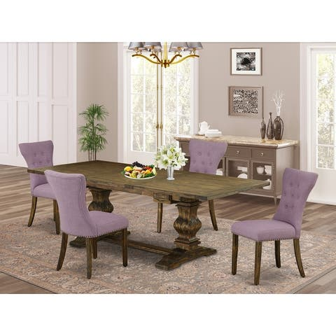 East West Furniture This is ravishing kitchen dinning sets with rectangle table and parson chairs
