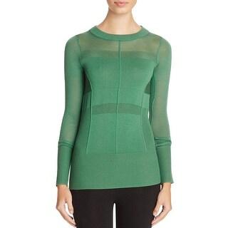DKNY Womens Mock Turtleneck Sweater Merino Wool Ribbed