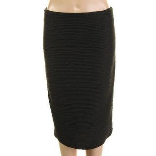 Nanette Lepore Womens Textured Pintuck Pencil Skirt - 2