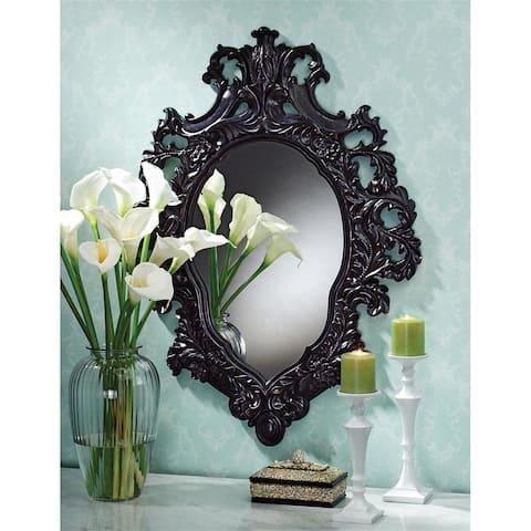 Design Toscano Madame Antoinette Ebony Salon Mirror - Black - 28 x 2.5 x 36.5
