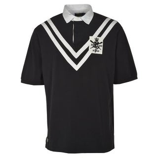Polo Ralph Lauren 1945 Big and Tall Chevron Striped Mesh Polo Shirt Black