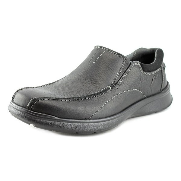 Clarks Narrative Cotrell Step Men Round Toe Leather Black Loafer