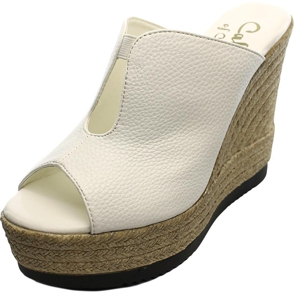 Callisto Alessaa Women Open Toe Synthetic White Wedge Heel