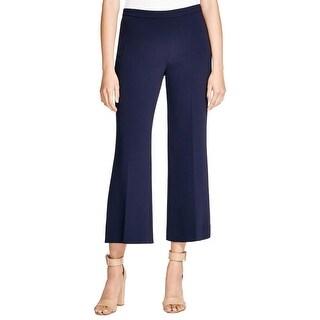 Theory Womens Laleenka Pants Crepe Hidden Side Zipper