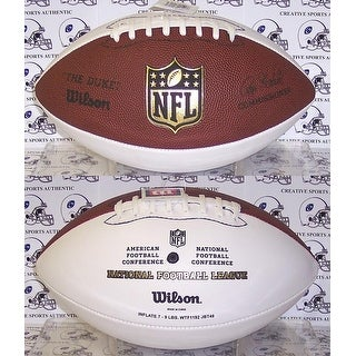 Wilson NFL 3 White Panel Autograph Model Football  F1192