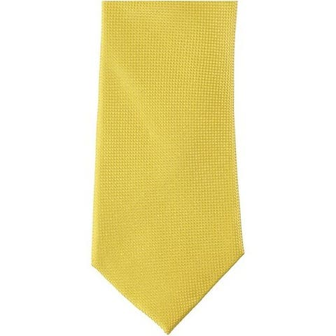Tommy Hilfiger Men's Yellow The Flex Solid Silk Knit Skinny Neck Tie