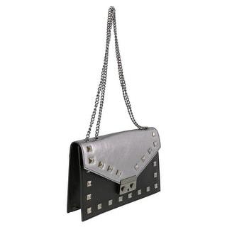 HS Collection HS1290 FEGU GARA Metallic Grey Shoulder Bag
