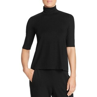 Eileen Fisher Womens Turtleneck Top Short Sleeves Casual - s