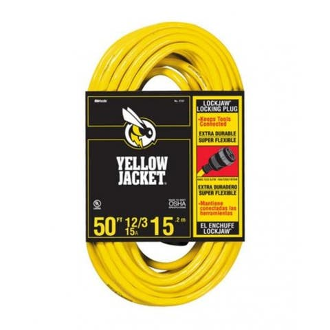 Yellow Jacket 2737 Extension Cord With Locking Plug, 50'