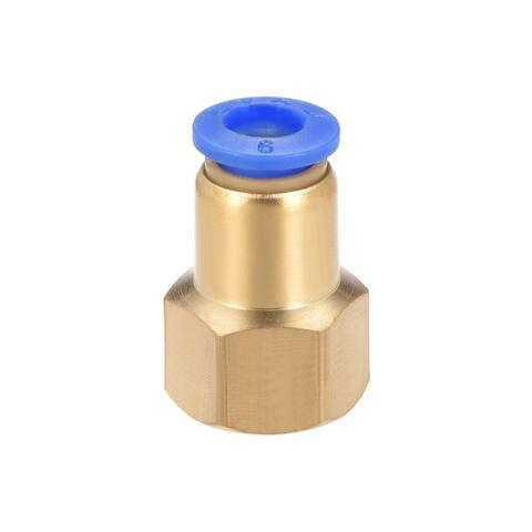 "1/4"" G Female Straight Thread 6mm Push In Joint Pneumatic Quick Fittings - 1/4"" G x 6mm"