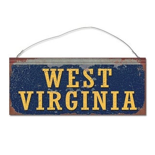 West Virginia University Mountaineers Small Tin Sign