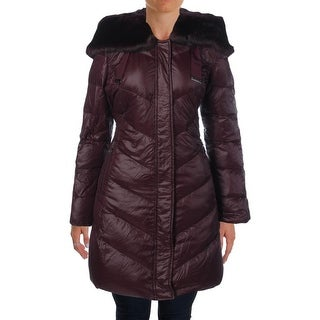 T Tahari Womens Austin Down Insulted Faux Fur Puffer Coat