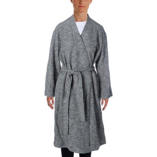Pure DKNY Womens Trench Coat Wool Tunic