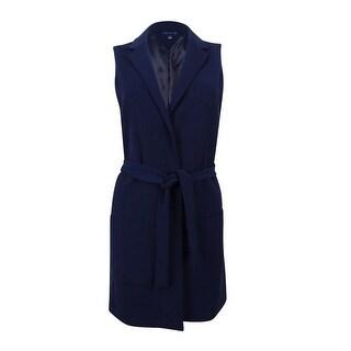 Tommy Hilfiger Women's Belted Blazer Vest (Navy, 6) - Navy - 6
