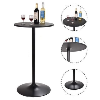 "Costway 24"" Dia Round Bar Table Bistro Pub Counter Home Outdoor Indoor Kitchen Furniture"