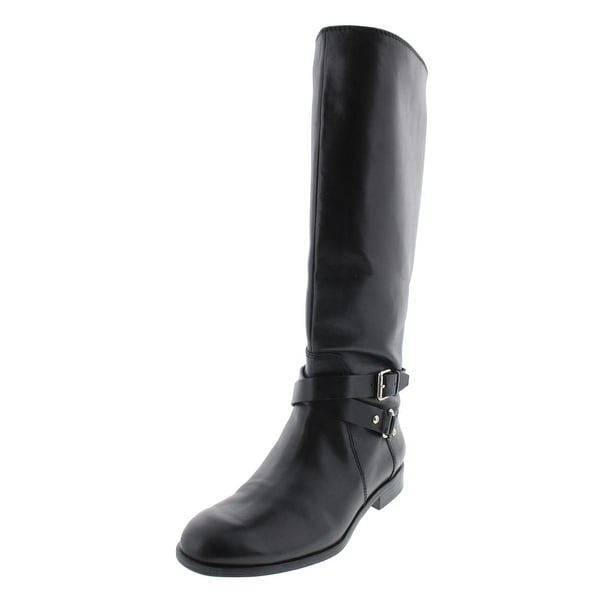 Enzo Angiolini Womens Daniana Riding Boots Wide Calf Leather