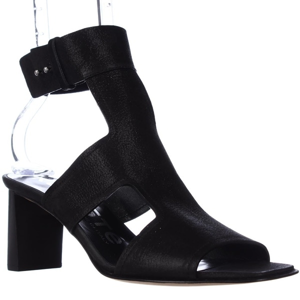 Kalliste 5954 Ankle Strap Square Toe Sandals, Black - 8.5 us / 38.5 eu
