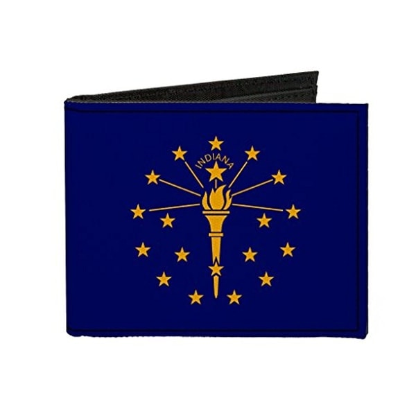 Buckle-Down Canvas Bi-fold Wallet - Indiana Flag Accessory